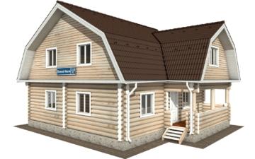 Фото #1: Красивый деревянный дом РС-115 из бревна