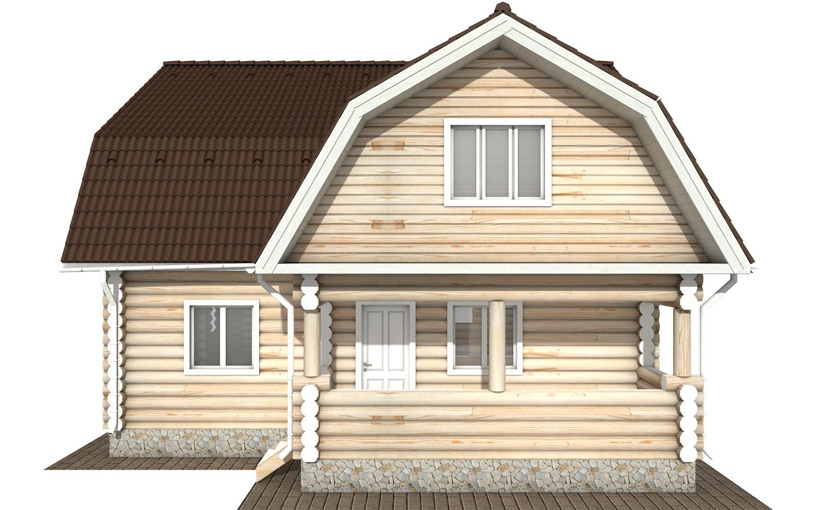 Фото #6: Красивый деревянный дом РС-115 из бревна