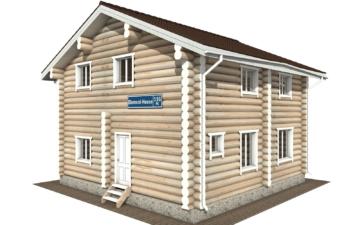 Фото #1: Красивый деревянный дом РС-116 из бревна