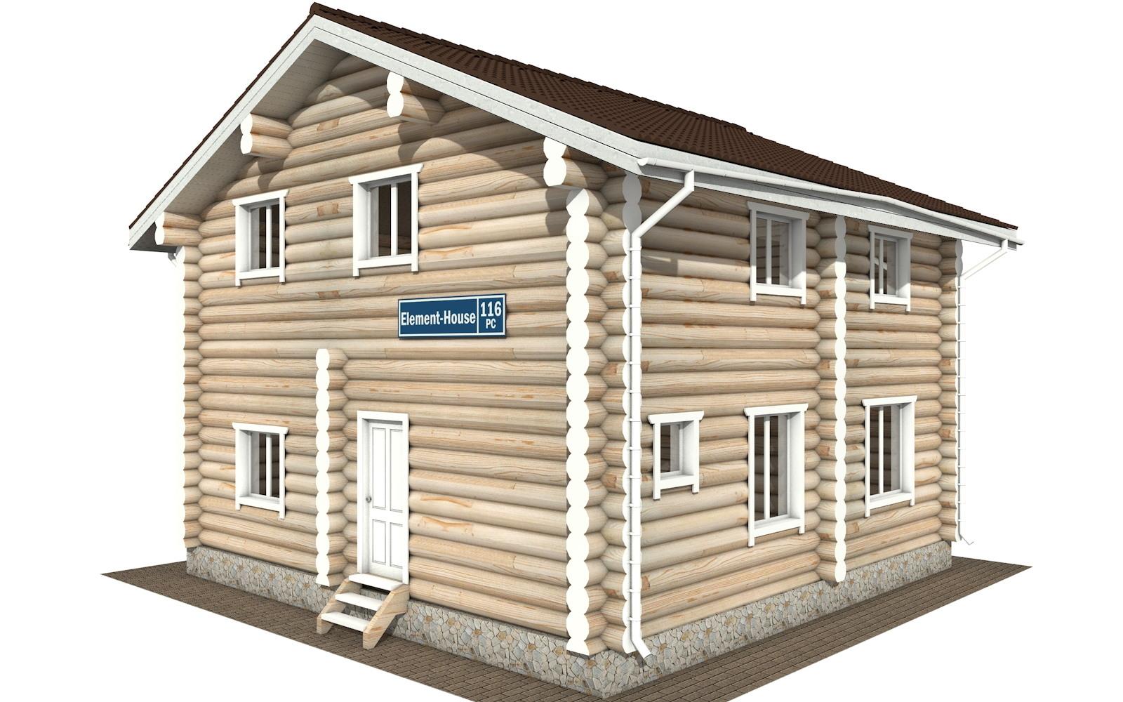 РС-116 - деревянный дома из бревна (из сруба)