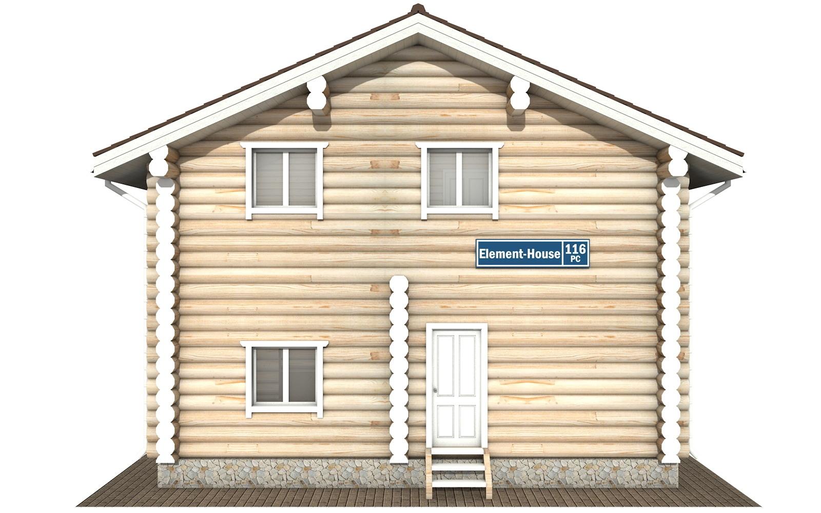 Фото #6: Красивый деревянный дом РС-116 из бревна