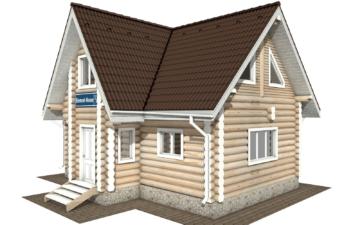 Фото #1: Красивый деревянный дом РС-117 из бревна