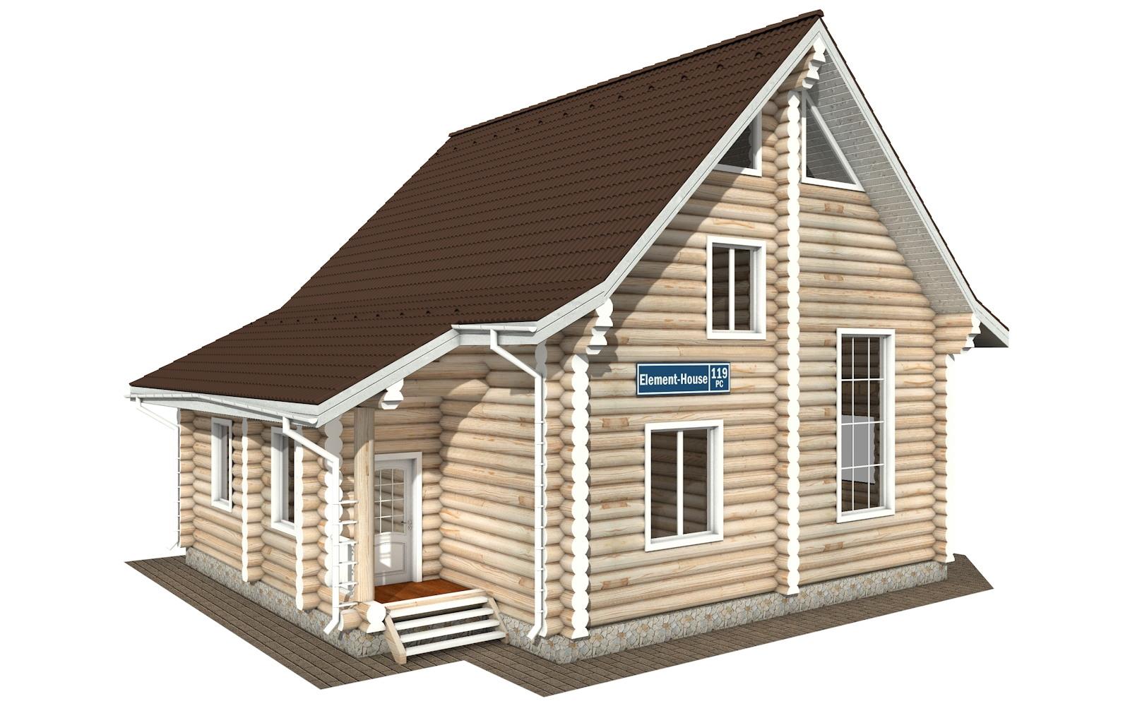 РС-119 - деревянный дома из бревна (из сруба)