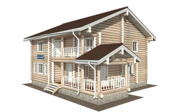 Фото #1: Красивый деревянный дом РС-120 из бревна