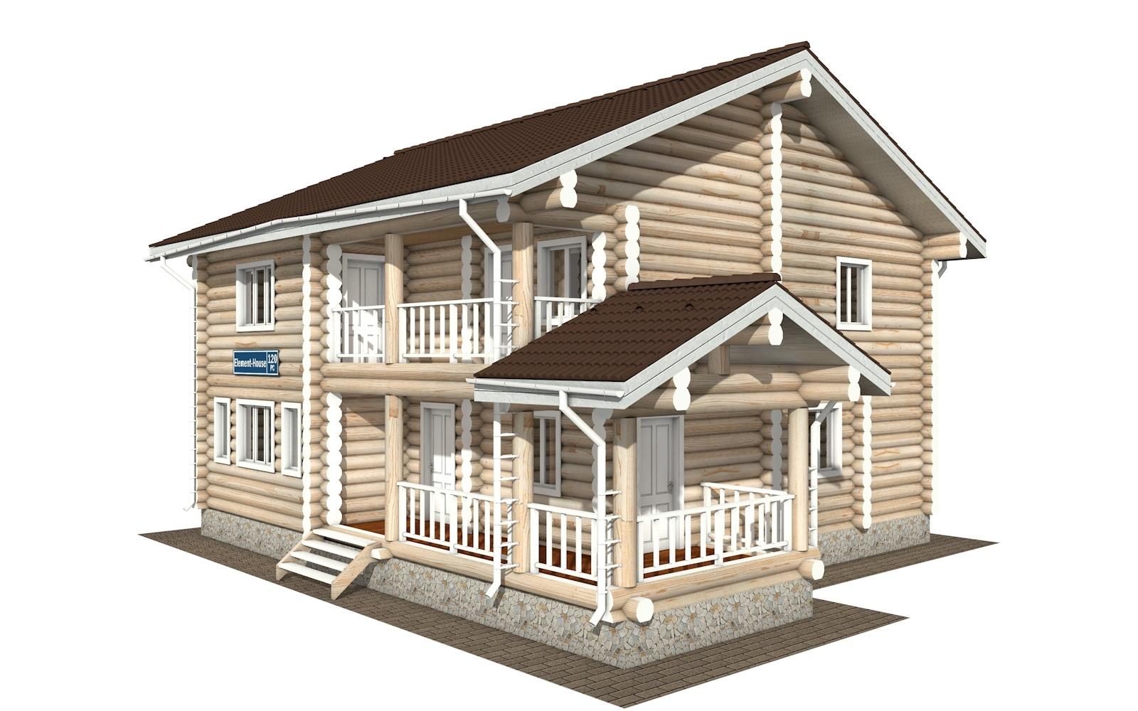 РС-120 - деревянный дома из бревна (из сруба)