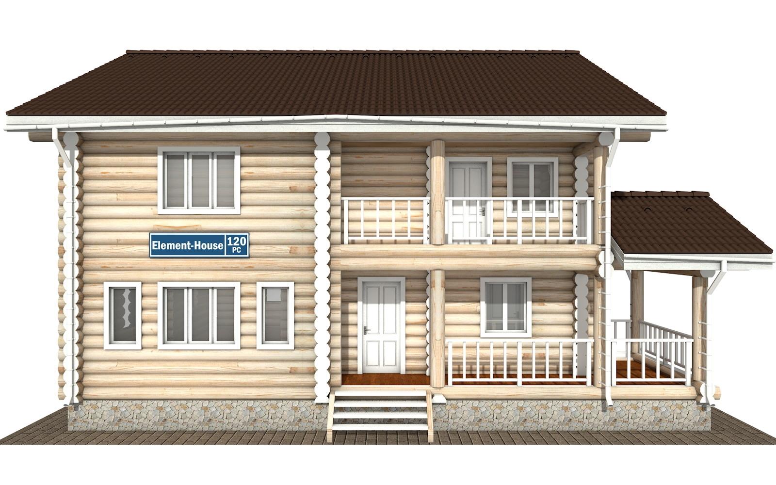 Фото #6: Красивый деревянный дом РС-120 из бревна