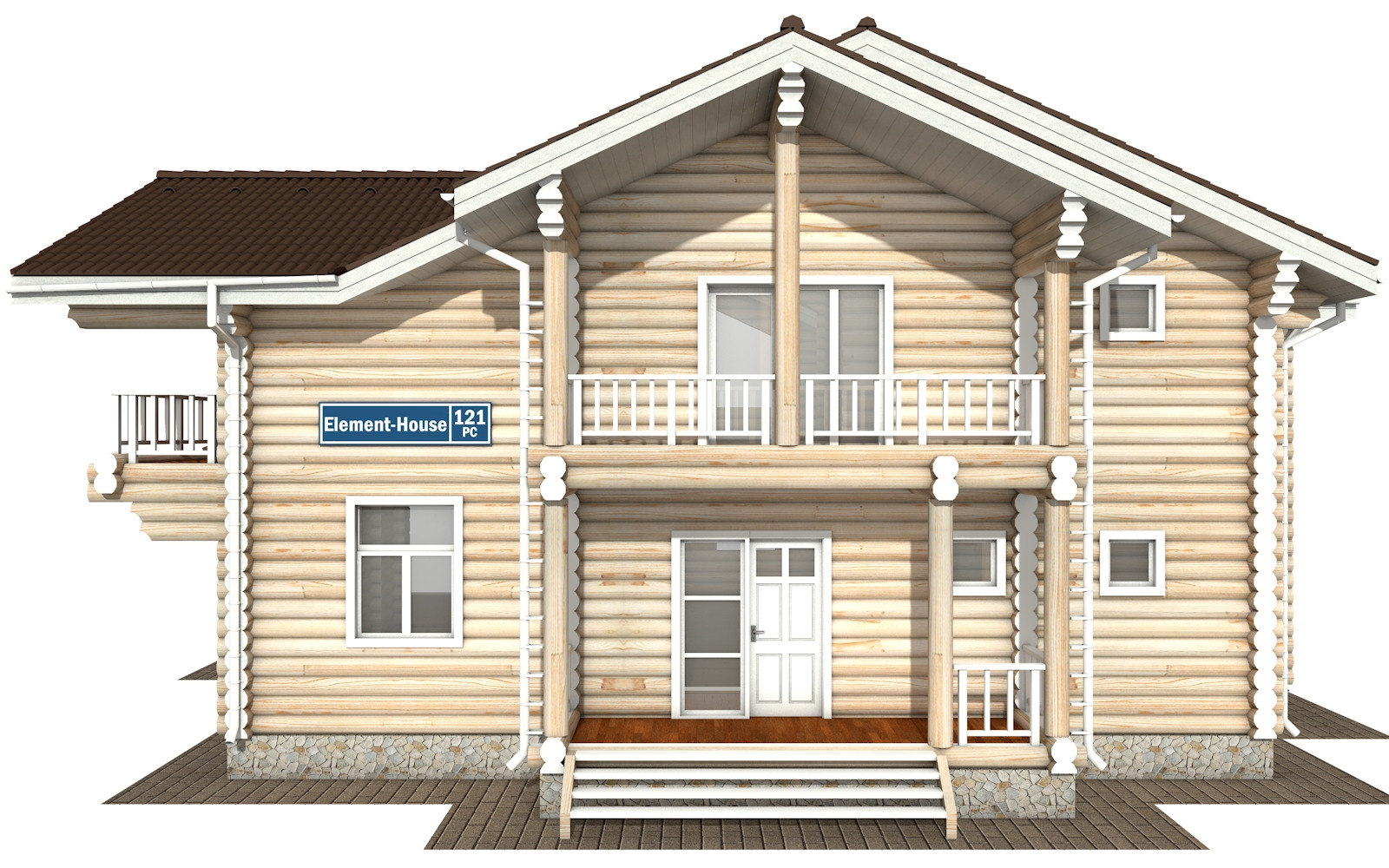 Фото #6: Красивый деревянный дом РС-121 из бревна