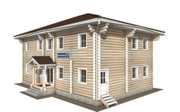 Фото #1: Красивый деревянный дом РС-122 из бревна