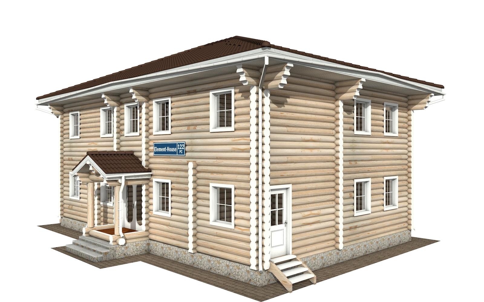 РС-122 - деревянный дома из бревна (из сруба)