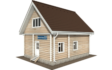 Фото #1: Красивый деревянный дом РС-123 из бревна