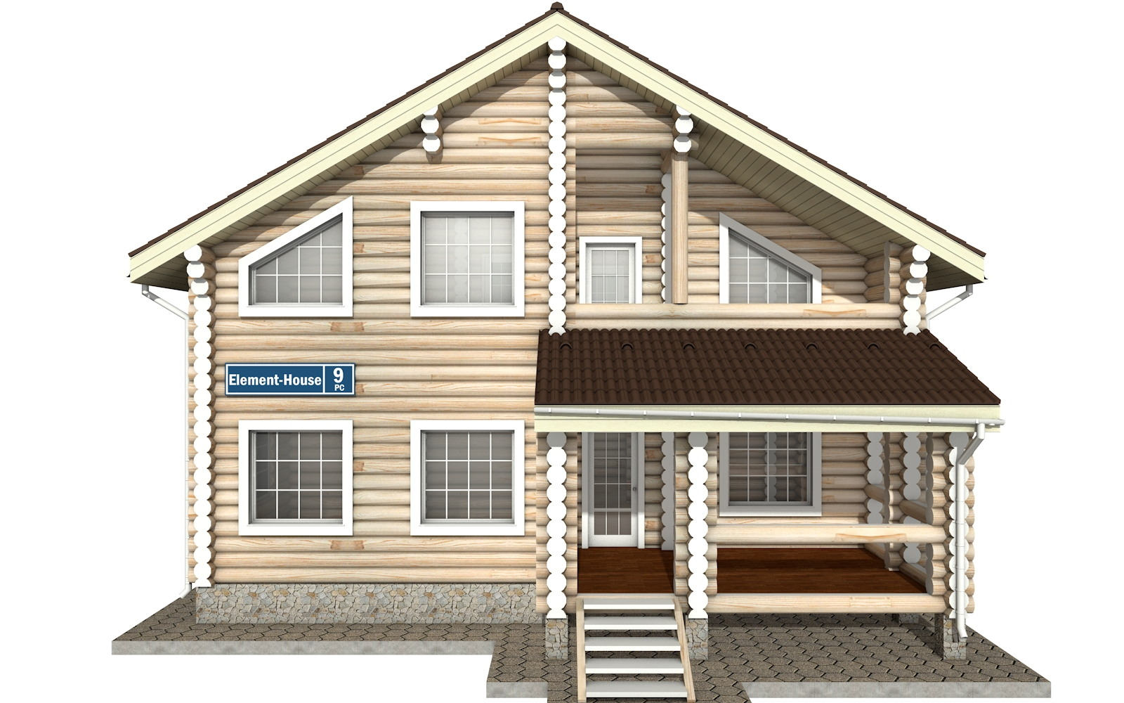 Фото #6: Красивый деревянный дом РС-9 из бревна