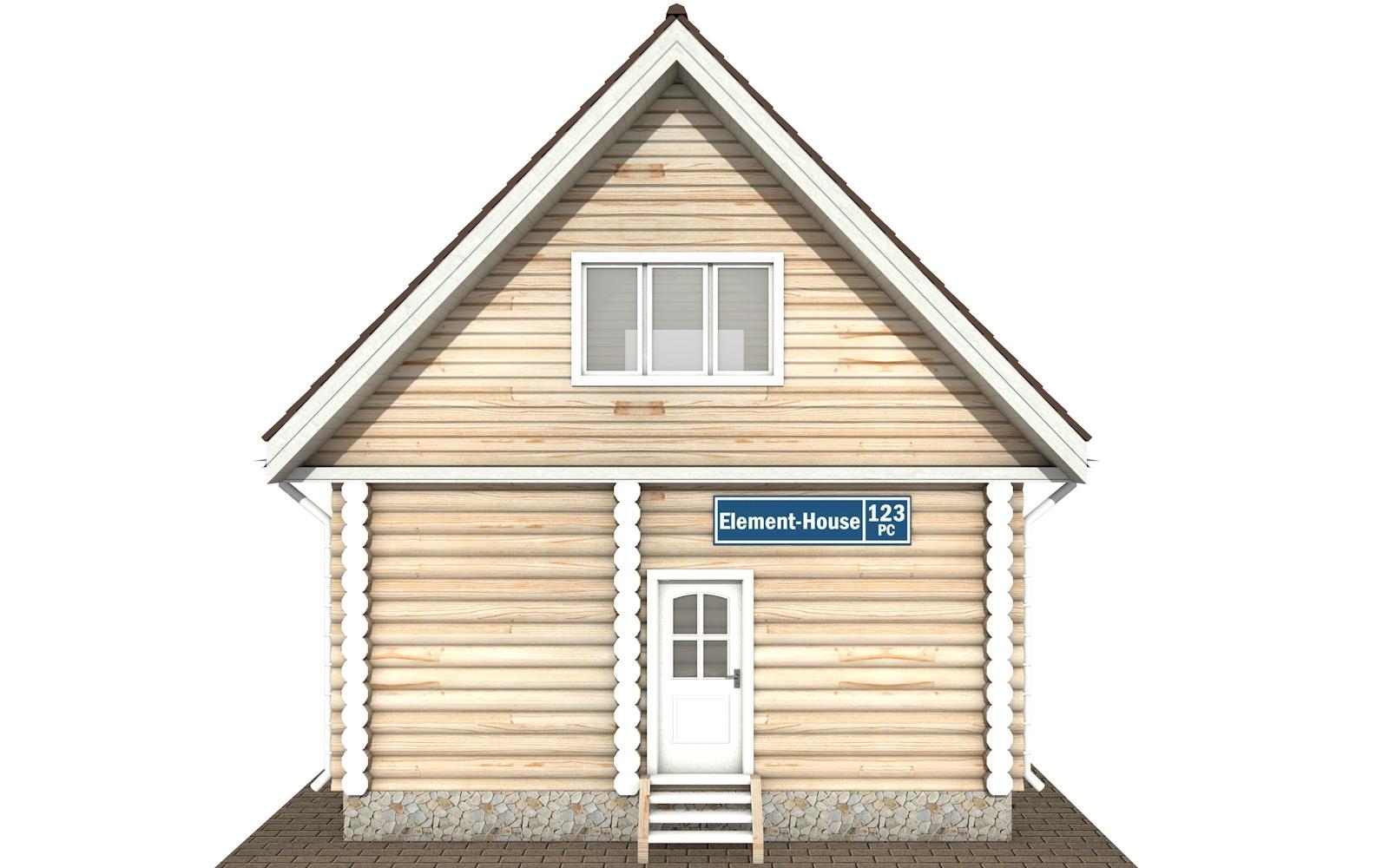 Фото #5: Красивый деревянный дом РС-123 из бревна