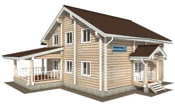 Фото #1: Красивый деревянный дом РС-124 из бревна