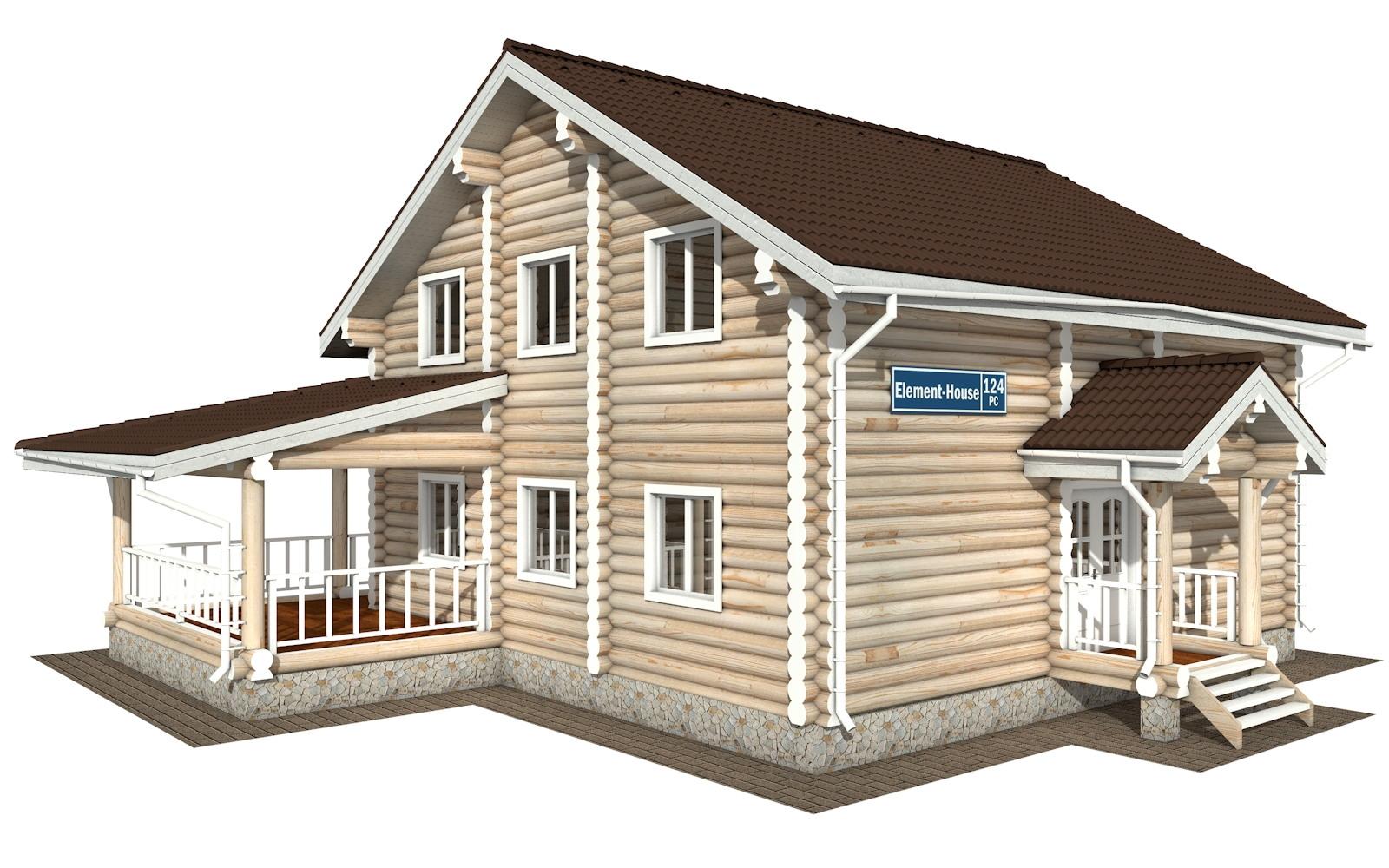РС-124 - деревянный дома из бревна (из сруба)