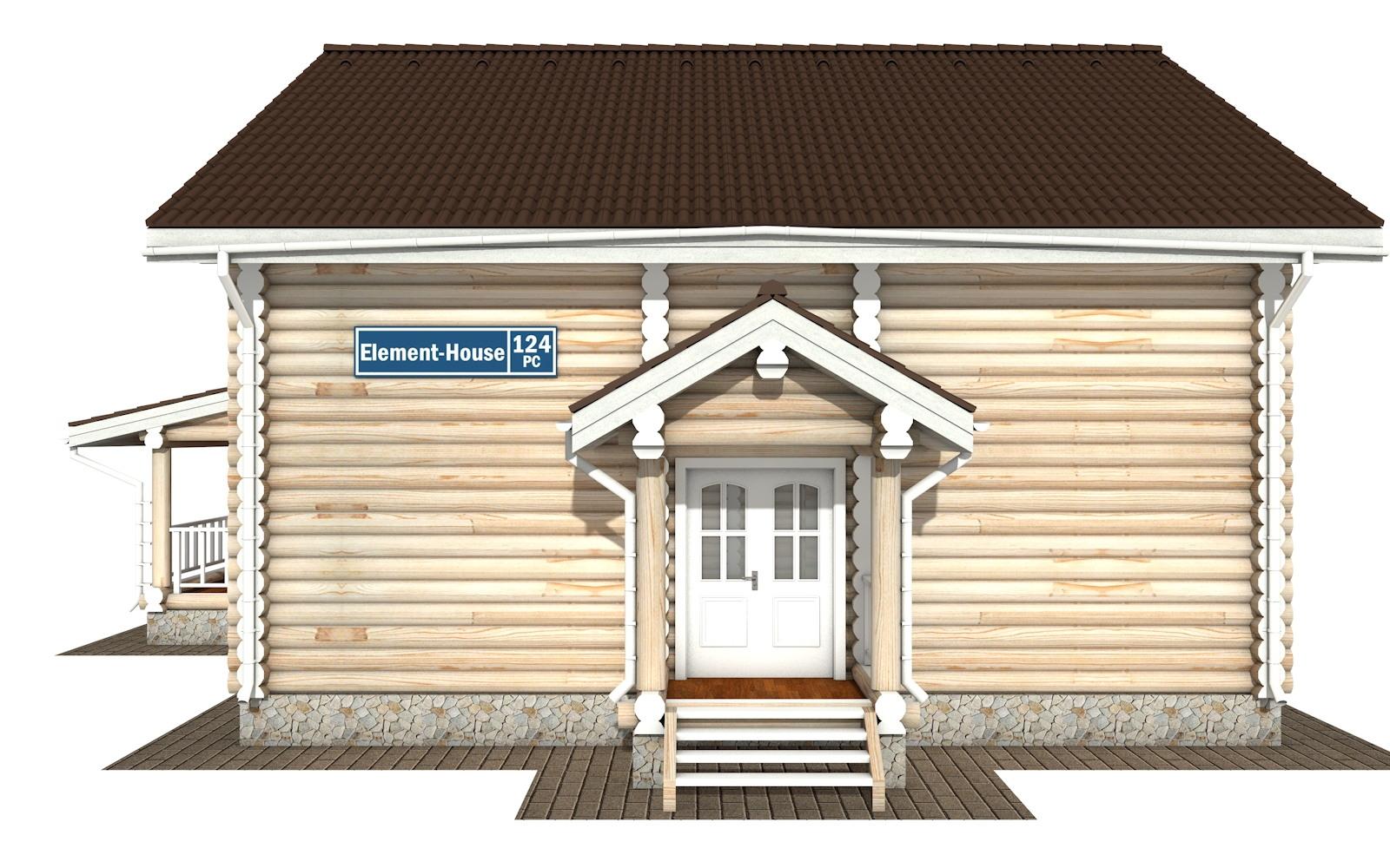 Фото #6: Красивый деревянный дом РС-124 из бревна
