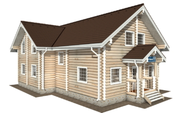 Фото #1: Красивый деревянный дом РС-125 из бревна