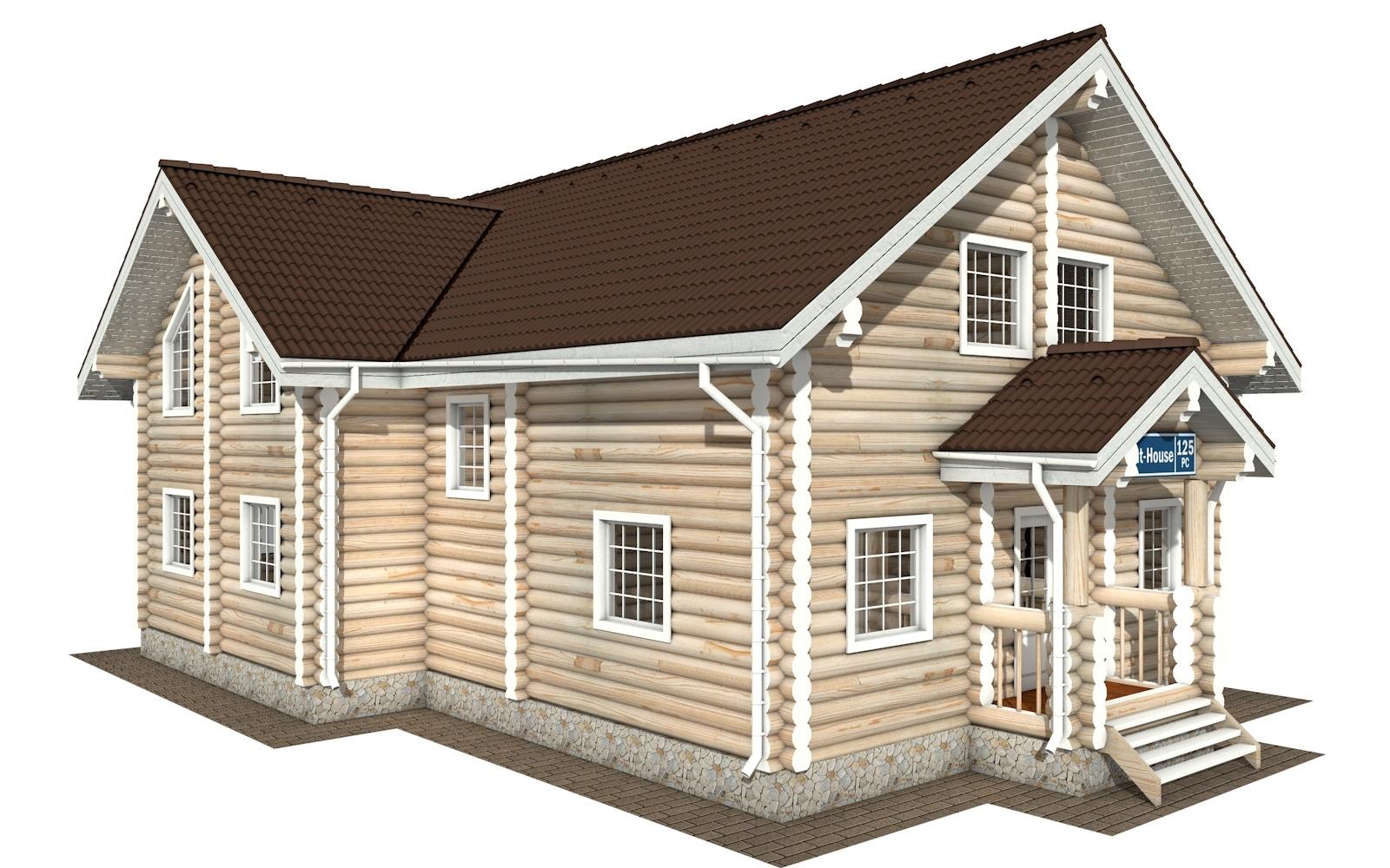 РС-125 - деревянный дома из бревна (из сруба)