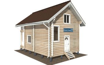 Фото #1: Красивый деревянный дом РС-126 из бревна