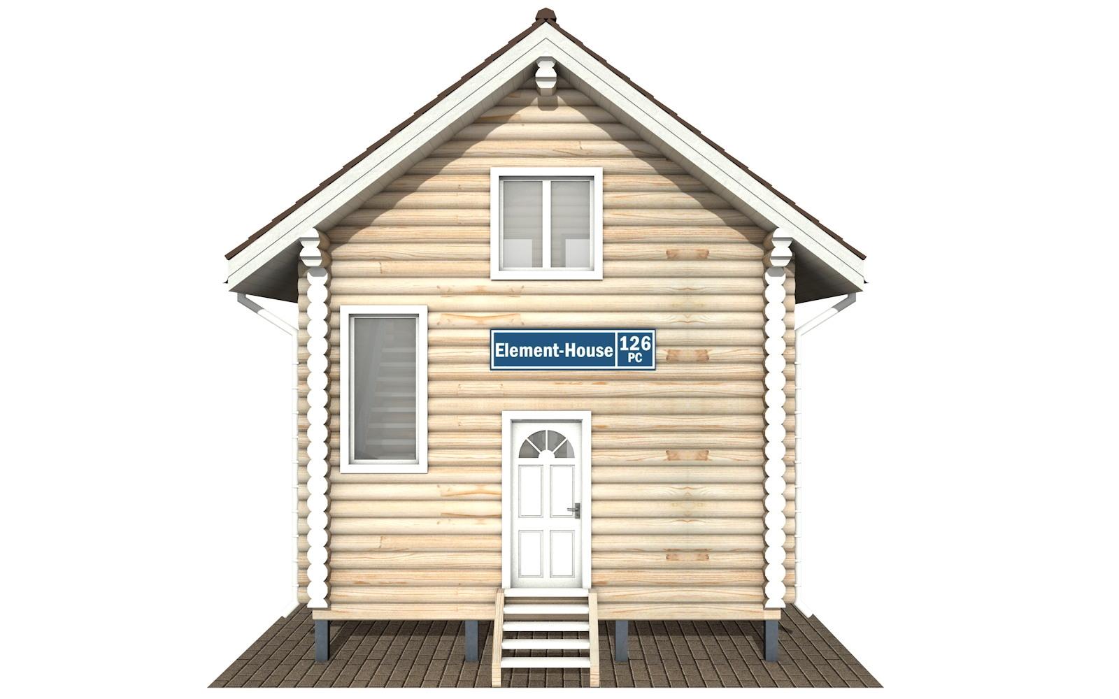 Фото #6: Красивый деревянный дом РС-126 из бревна