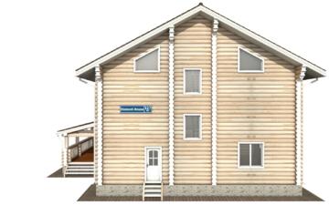 Фото #7: Красивый деревянный дом РС-127 из бревна