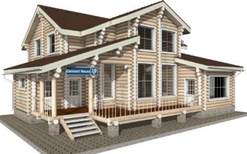 Фото #1: Красивый деревянный дом РС-10 из бревна