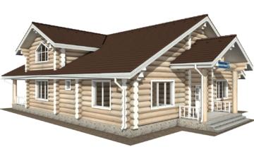 Фото #1: Красивый деревянный дом РС-129 из бревна