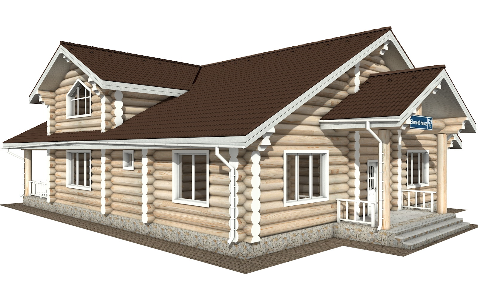 РС-129 - деревянный дома из бревна (из сруба)