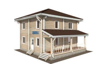 Фото #1: Красивый деревянный дом РС-130 из бревна
