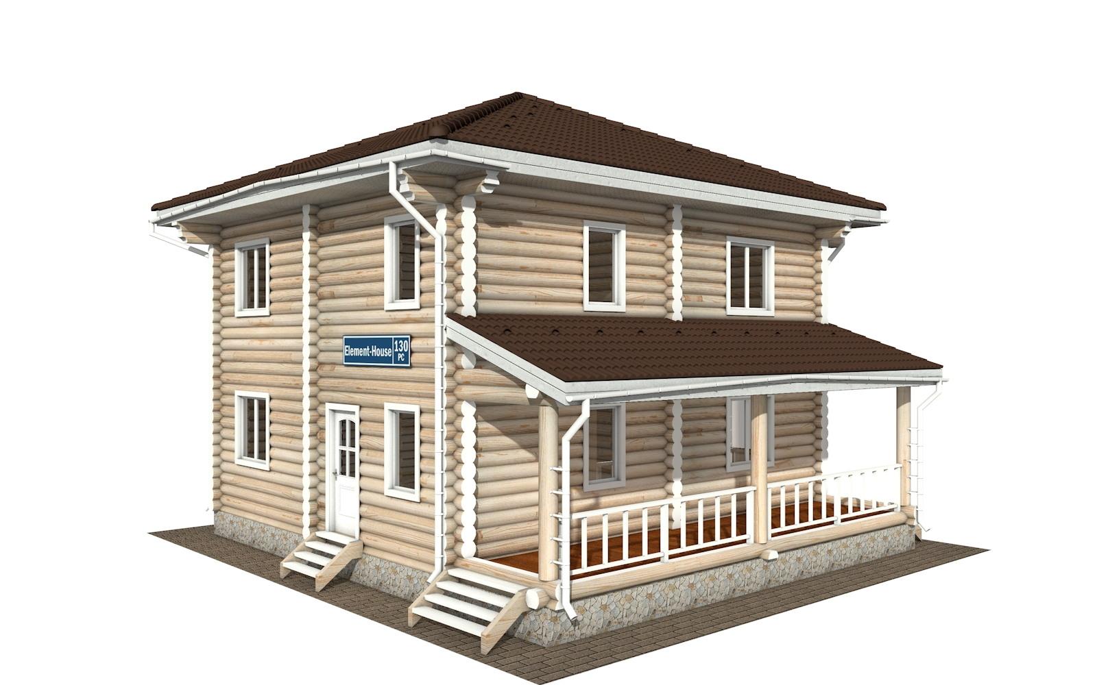 РС-130 - деревянный дома из бревна (из сруба)