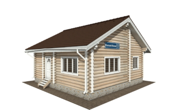 Фото #1: Красивый деревянный дом РС-131 из бревна
