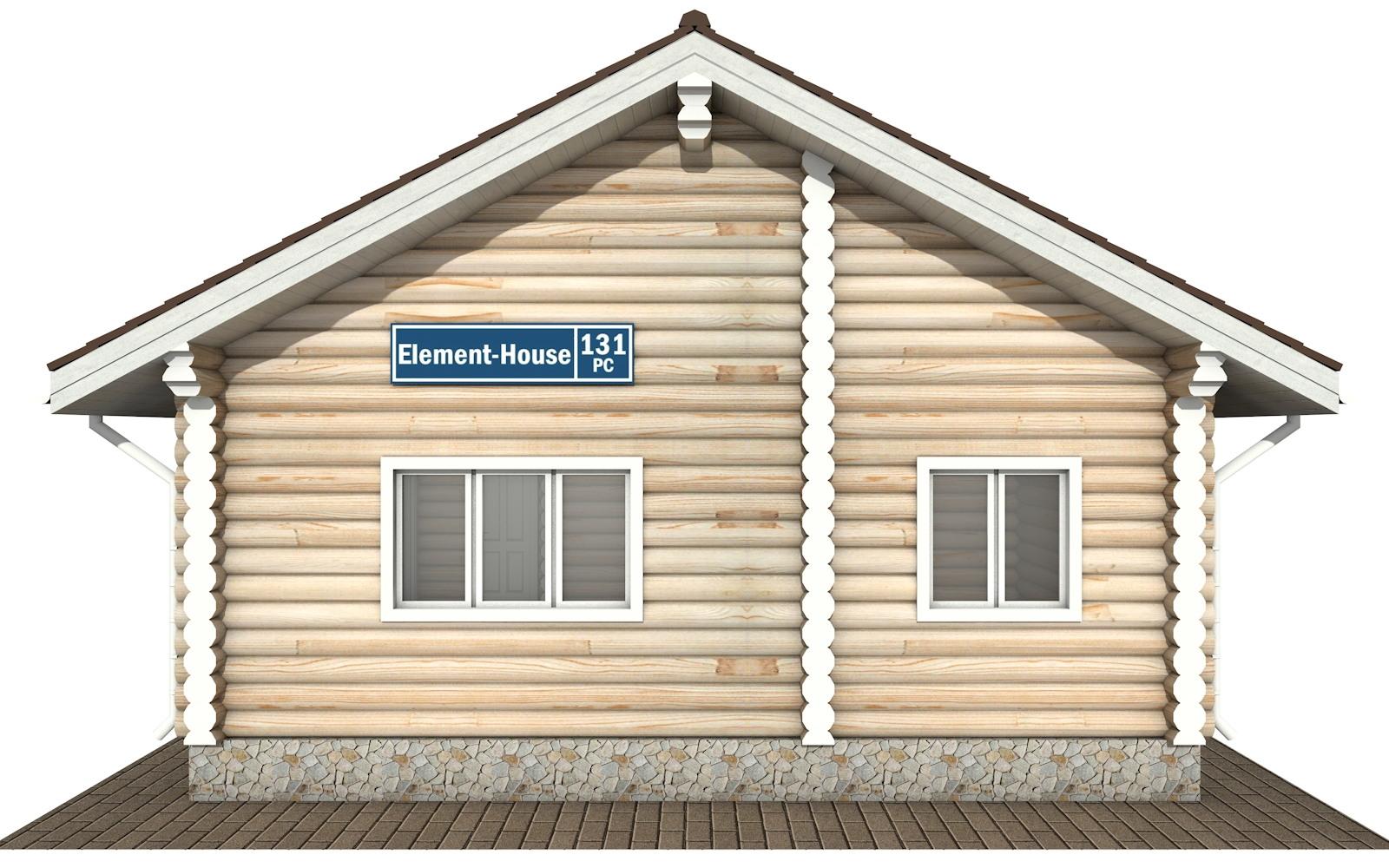 Фото #5: Красивый деревянный дом РС-131 из бревна