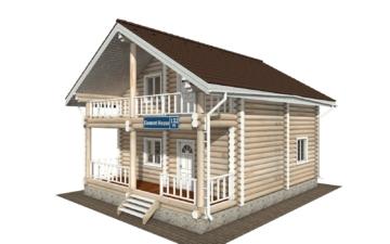 Фото #1: Красивый деревянный дом РС-132 из бревна