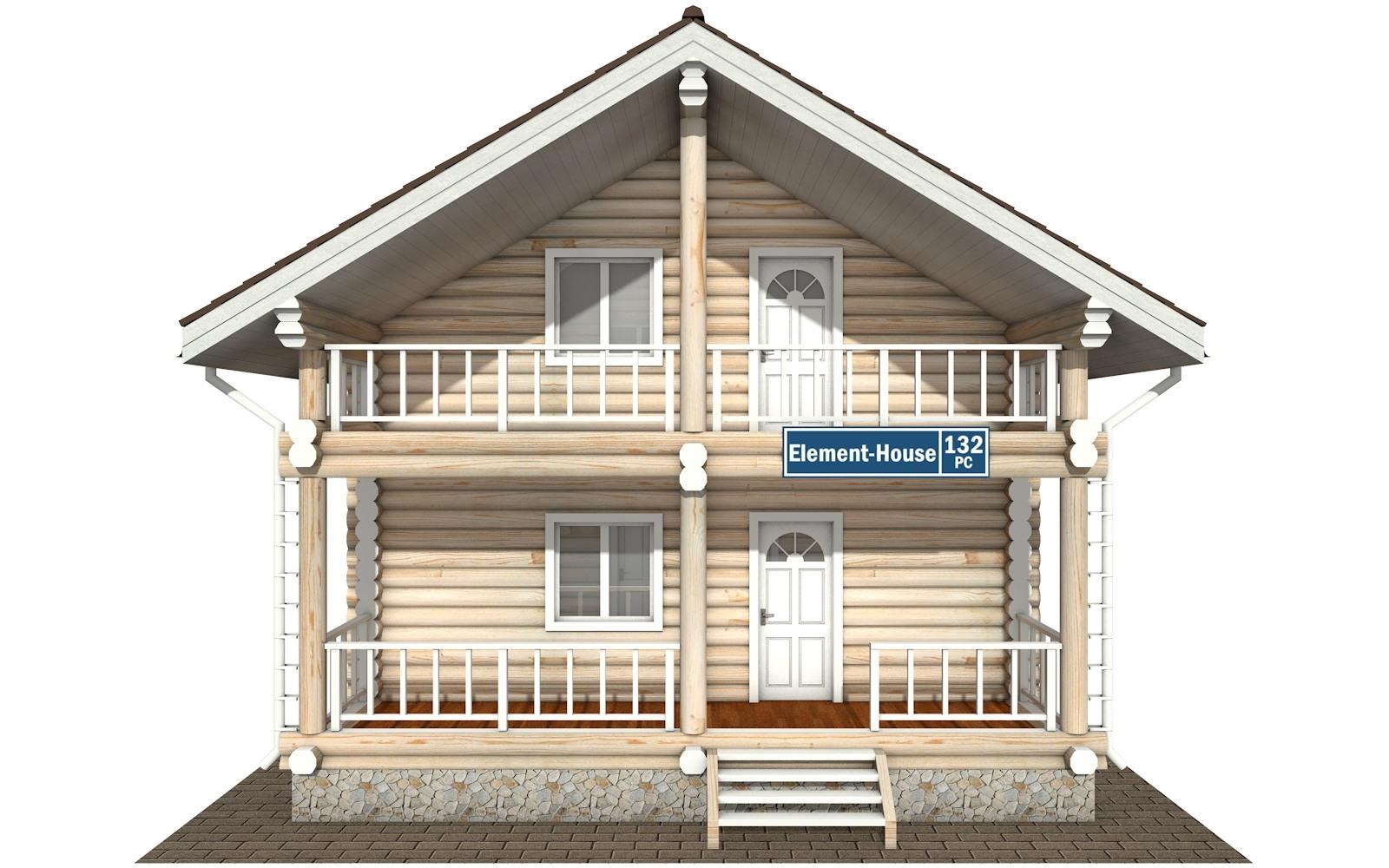 Фото #6: Красивый деревянный дом РС-132 из бревна