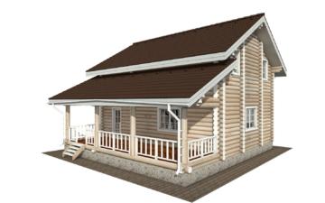 Фото #1: Красивый деревянный дом РС-133 из бревна