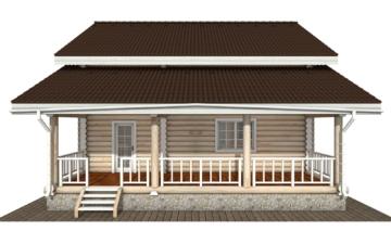 Фото #7: Красивый деревянный дом РС-133 из бревна
