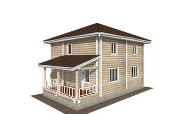 Фото #1: Красивый деревянный дом РС-134 из бревна