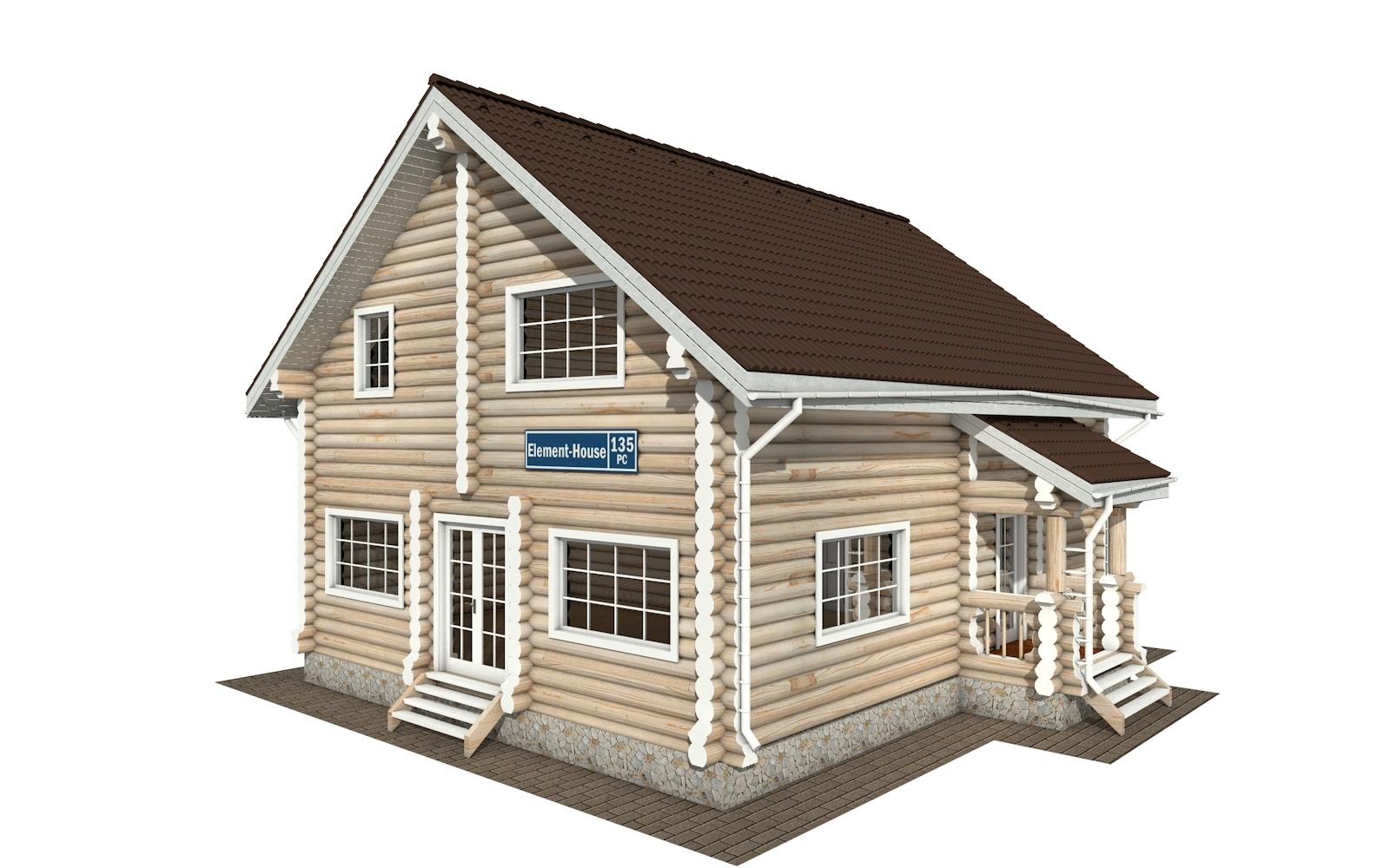РС-135 - деревянный дома из бревна (из сруба)