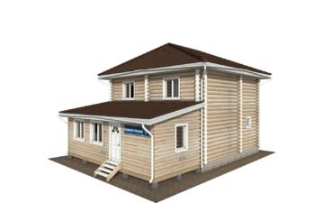 Фото #1: Красивый деревянный дом РС-136 из бревна
