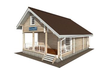 Фото #1: Красивый деревянный дом РС-137 из бревна