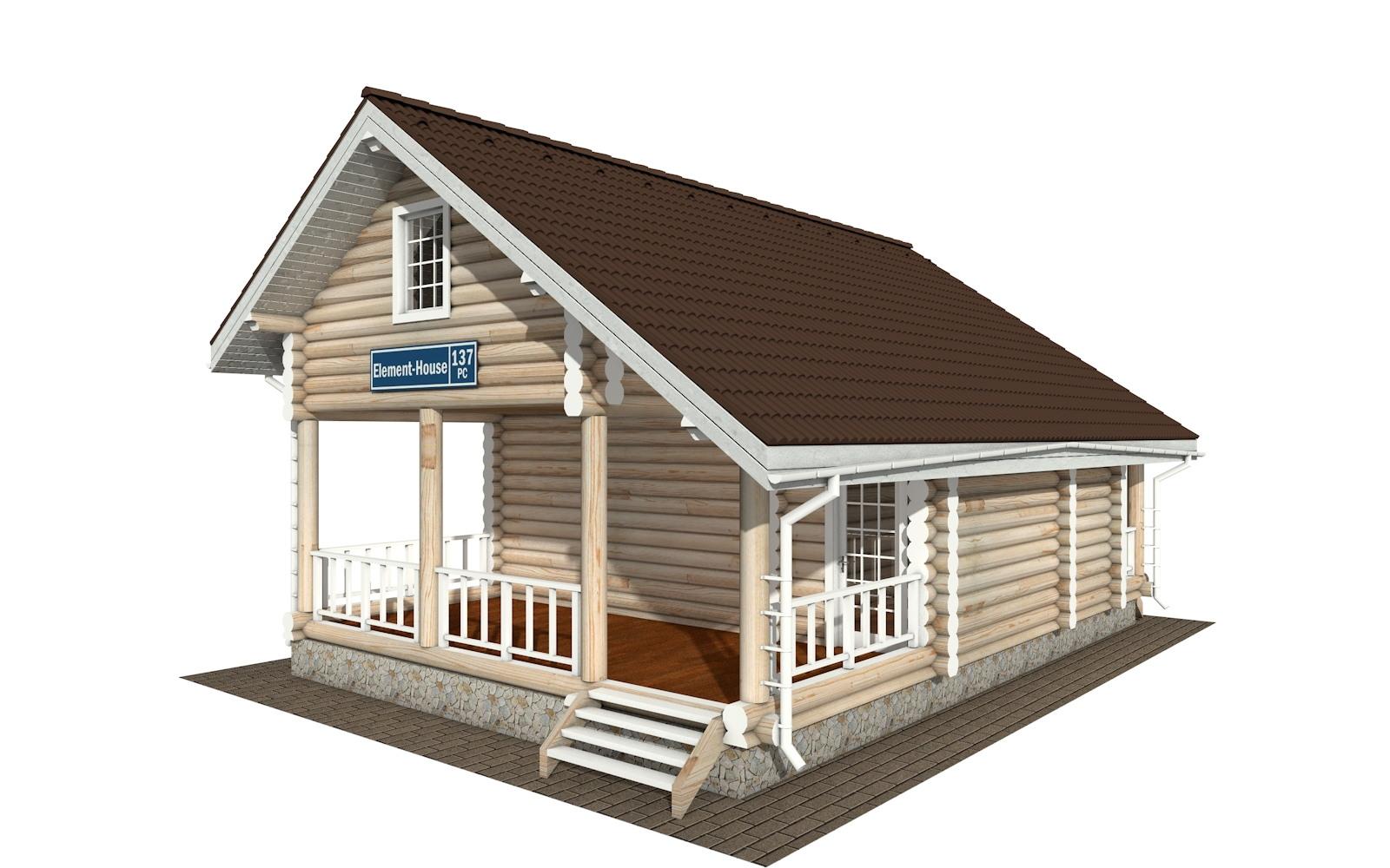 РС-137 - деревянный дома из бревна (из сруба)