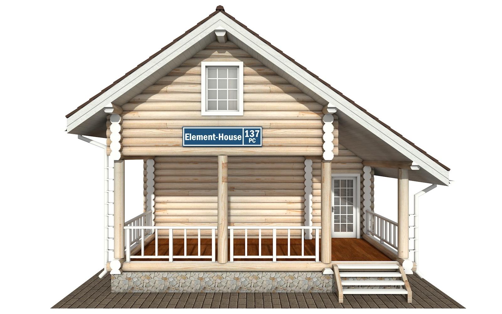 Фото #6: Красивый деревянный дом РС-137 из бревна