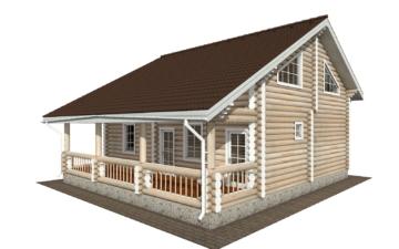 Фото #1: Красивый деревянный дом РС-138 из бревна