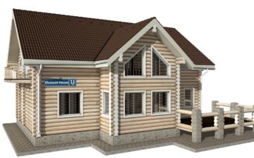 Фото #1: Красивый деревянный дом РС-11 из бревна