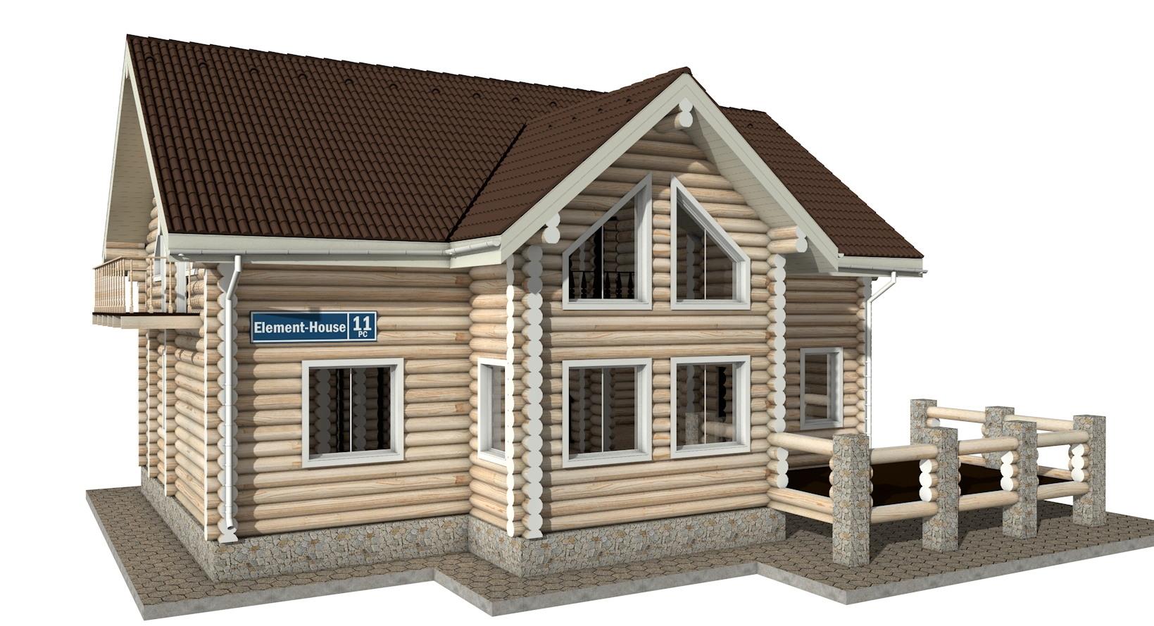 РС-11 - деревянный дома из бревна (из сруба)