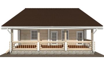 Фото #7: Красивый деревянный дом РС-138 из бревна