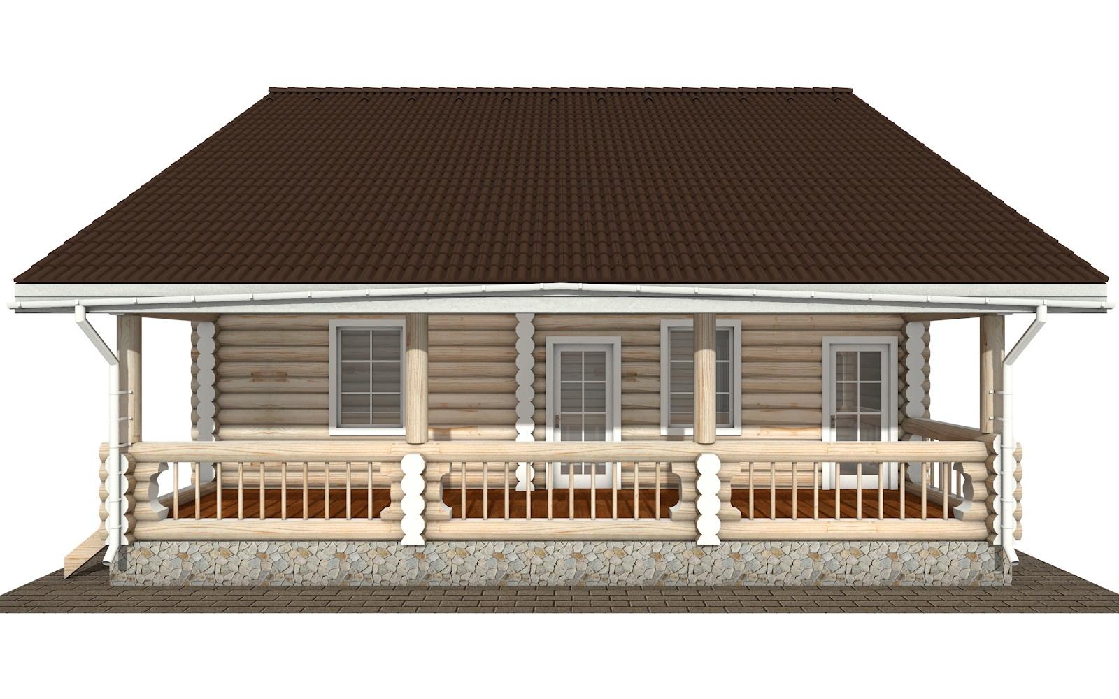 Фото #6: Красивый деревянный дом РС-138 из бревна