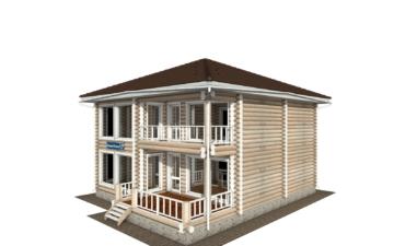 Фото #1: Красивый деревянный дом РС-139 из бревна