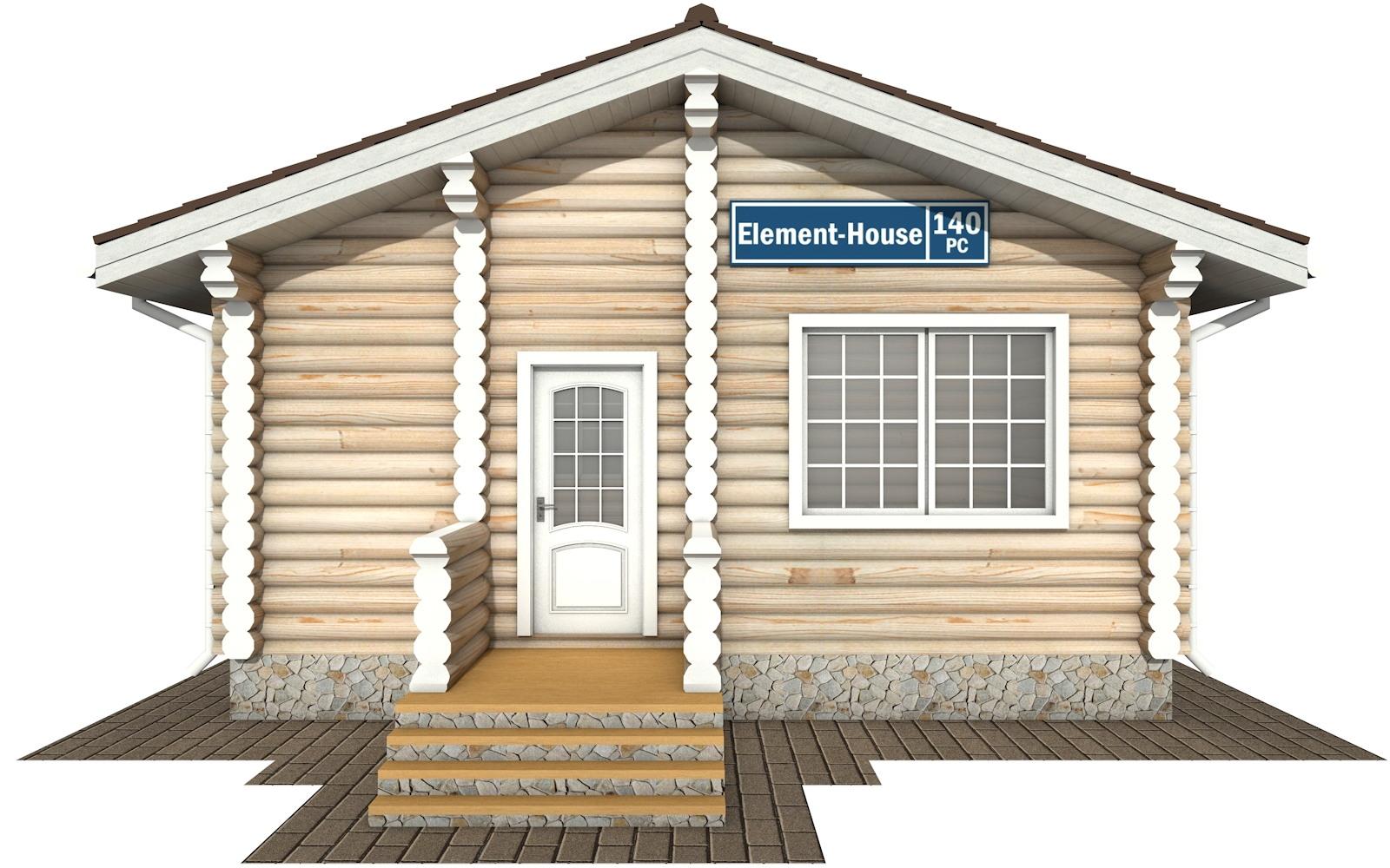 Фото #5: Красивый деревянный дом РС-140 из бревна