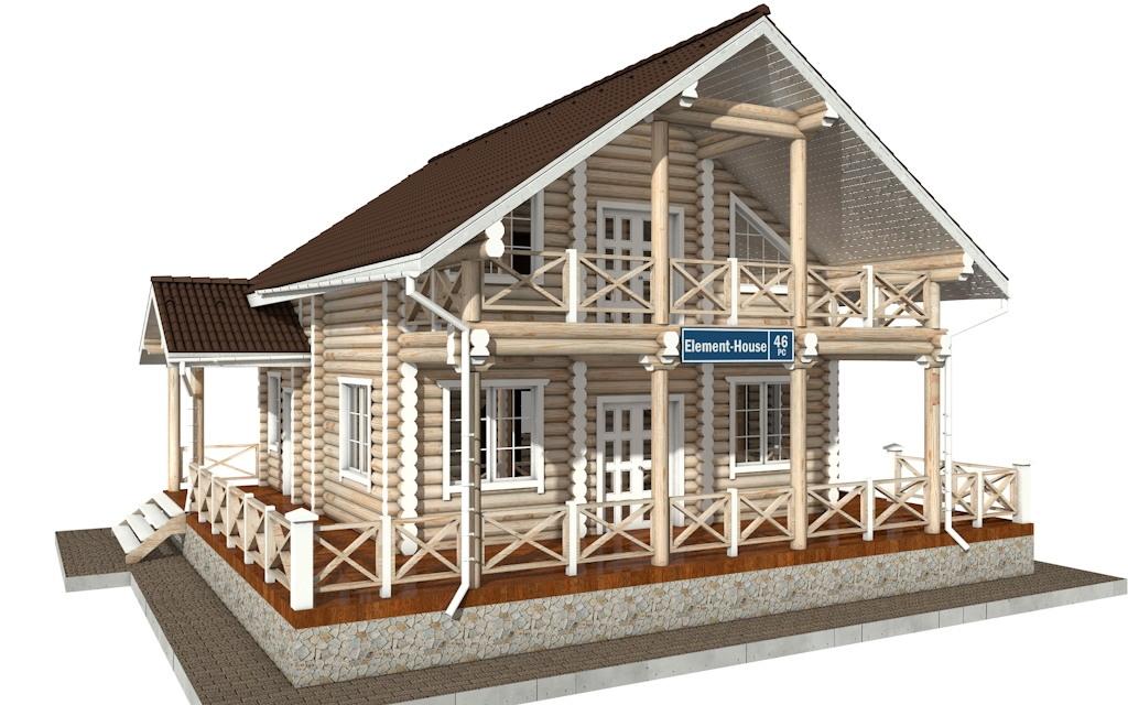 РС-46 - деревянный дома из бревна (из сруба)