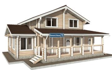 Фото #1: Красивый деревянный дом РС-66 из бревна